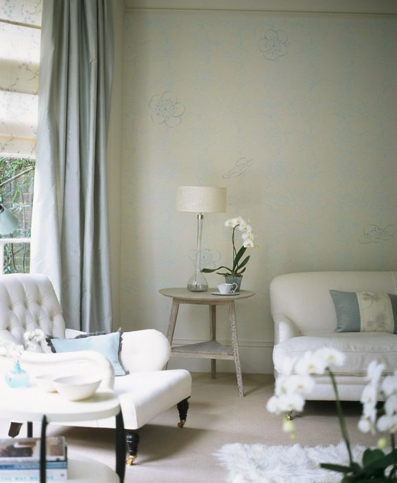 Homes & Gardens. Stencil feature. Photograper Polly Wreford