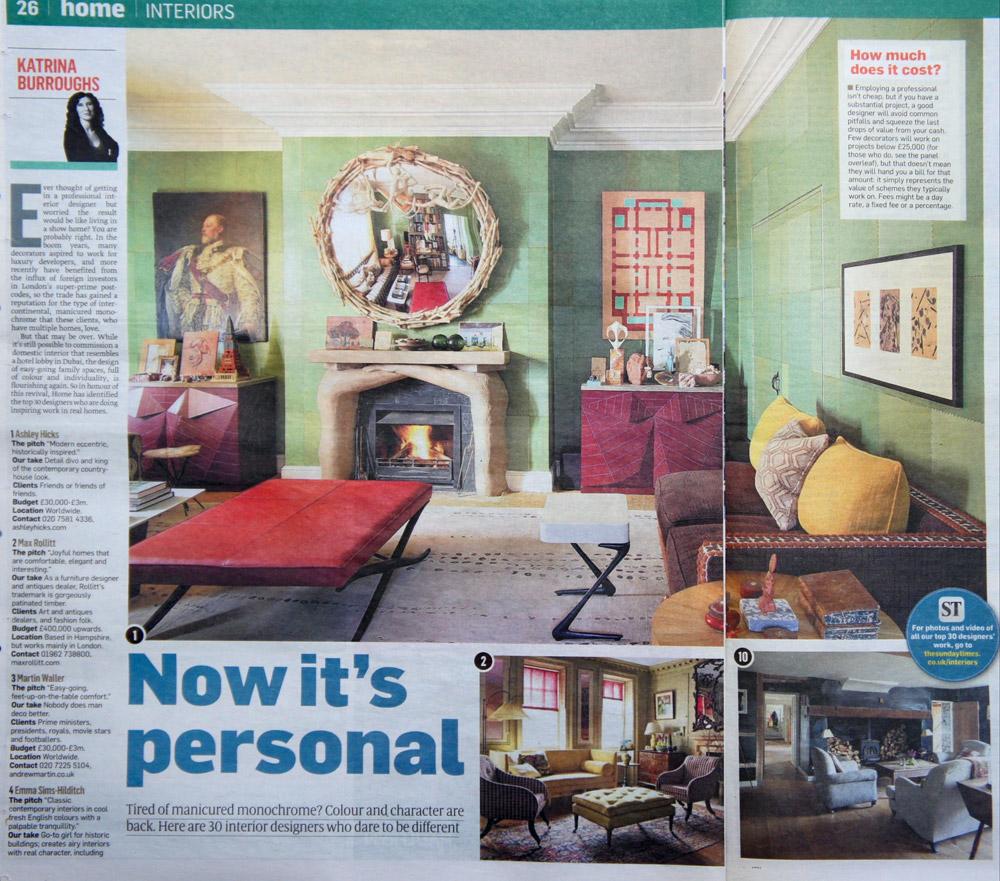 Lucy Elworthy Interior Design - Sunday Times